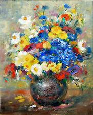 """Léa Chapon (attribué à) - Huile sur carton """"Bouquet champêtre"""""""