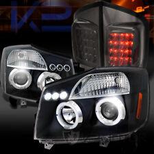 For 05-07 Armada Black Halo LED Projector Headlights+Smoke LED Tail Lamps