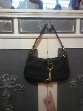 100% AUTHENTIC COACH BAG Hampton Black Pebbled Leather Purse Handbag  Pre-Owned 284bf48f10131