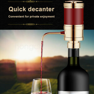 Electric Wine Dispenser Automatic Wine Decanter Quick Sobering Wine Pourer NEW