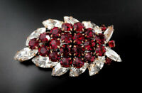 Czech VINTAGE 1950's Rhinestone Pin Brooch #T169 - UNIQUE/RARE!!!!