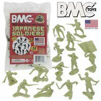 BMC Classic Marx WW2 Japanese Plastic Army Men - Khaki-Green 32pc Figure Set