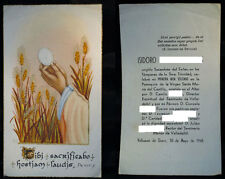OLD HOLY ORDER OF ISIDORO IN VALBUENA DE DUERO YEAR 1948 HOLY CARD .  CC238