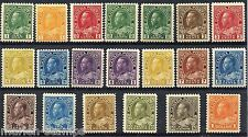 CANADA SCOTT#104-122 MINT NEVER HINGED NICE AND FRESH SET AS SHOWN