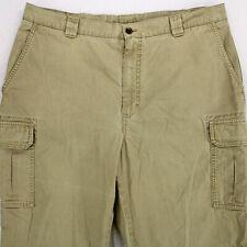 LL BEAN Vtg Natural Fit Beige Khaki CARGO PANTS MEN'S 37 x 29