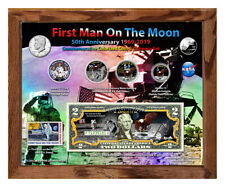 "Apollo 11 Color 50th Anniversary Colorized Coin & Currency Set in 8"" x 10"" Frame"
