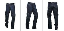 GBG Motorcycle Armour Jeans With Protective Lining Slim Fit Stretch Metro Blue 38 34