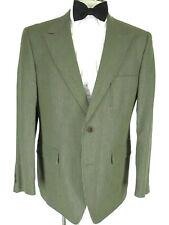 Nat Nast Mens Brown 2 Btn Rodina Wool Linen Sport Coat 44R Italy Made