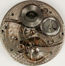 Waltham Grade 221 Complete Running Pocket Watch Movement -  Parts / Repair