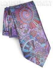 ERMENEGILDO ZEGNA Limited Edition QUINDICI violet teal FANS silk Tie NIB Authent