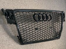 Audi A4 S4 RS4 Style Gloss Black Honeycomb Grille 08 - 12 B8 Model