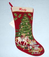 Sferra Christmas Toys Needlepoint Christmas Stocking Monogrammed WENDY New