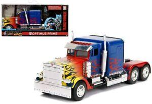 1/32 Jada Toys Transformers T1 Camion Optimus Prime Blue Neuf Livraison Domicile