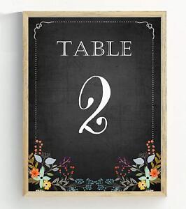 Darling Souvenir Chalkboard Style Table Numbers Chalk Board Wedding-DS-JSTN4B