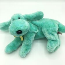 Ty Classic Beanie Buddy Vintage Diddley Teal Dog