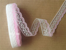 Pretty! 10 yards net lace ribbon embroidery seven colors choice 2.00 cm wide