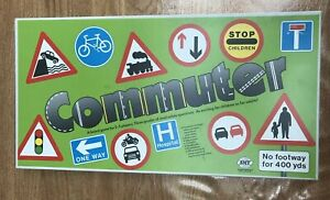 Commuter Road Safety Board Game 986 RARE Vintage Complete Good Condition