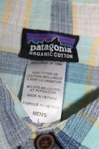 PATAGONIA Organic Cotton Button Down Shirt Men's L Multicolor Plaid Short Sleeve