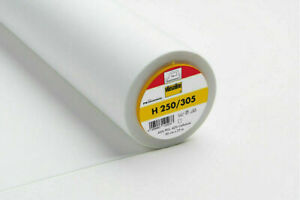 1 Meter Vlieseline  H 250 von Freudenberg Bügeleinlage Bügelvlies in weiß