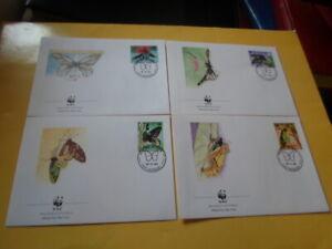 Papua-New 1988 Wwf Butterflies Queen-Alexandra-Vogelfalter 4 FDC