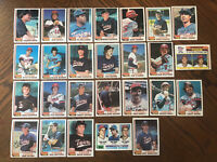 1982 MINNESOTA TWINS Topps COMPLETE MLB Team SET 26 Cards HRBEK RC SMALLEY WARD