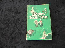 REGLES de TOUS les JEUX par G. BEUDIN - Editions ALBIN MICHEL 1955