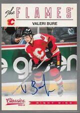 12/13 Classics Signatures Auto Valeri Bure 54 Flames
