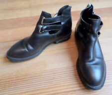 Jonak Paris Boots Glossy Black Buckles Zippers Size Euro 40 US 8-1/2 Narrow?