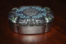 ANTIQUE IMPERIAL RUSSIAN 84 SILVER ENAMEL SNUFF/TRINKET BOX
