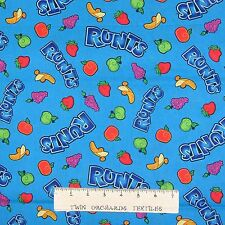 Candy Fabric - Runts Fruit Toss on Blue - Springs YARD