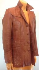 VTG WILSON LIGTH BROWN LEATHER FIGHT CLUB JACKET  SZ 38 S/M GREAT STYLE
