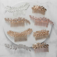 Gold Silver Bridal Hair Comb Metal Leaf Wedding Accessories Women Headpiece