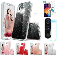 For Samsung Galaxys A50/A70 Shockproof Glitter Case Cover+Camera Lens Protector