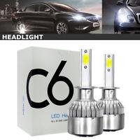 1 Pair 38W 7200LM COB H1 C6 Car LED Headlight Bulb Conversion 6000K White