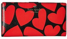 NWT Kate Spade Be Mine Heart Print Leather Stacy Wallet PWRU5346