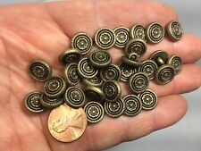 New Electroplated 7/16 inch (11mm) Plastic Antique Brass Gold Buttons (#D)