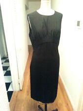 Diane von Furstenberg smart  black Sheath Dress LBD  sleeveless size 14 EUC