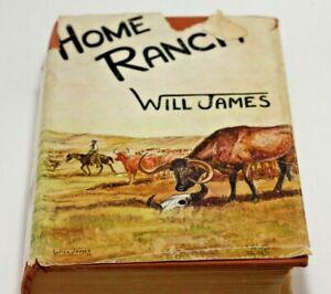VTG Home Ranch Will James 1936 HCDJ Cowboys Range Life Seven X Texas Cattle Driv