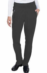 "Healing Hands #9155 Knit Yoga Waist Cargo Scrub Pant in ""Black"" Size M"