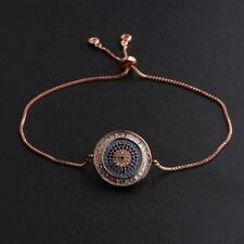 Men Fashion Evil Eye Cubic Zirconia CZ Copper Women Adjustable Bracelets GIft