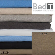 Bedt Sheet Set By Bambury   Combed Cotton Jersey Knit Bedding Bed Linen  Latte Q