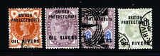 OIL RIVERS PROTECTORATE NIGERIA 1892-4 Overprinted QV Group SG 1 to SG 6 VFU/MNH