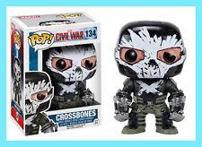 FUNKO POP Marvel CAPTAIN AMERICA CIVIL WAR CROSSBONES #134 7503 Bobble Head