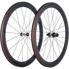 Súper ligero Bicicleta de carretera de carbono Ruedas Remachador DT350 Hub 1420 radios 50mm conjunto de ruedas