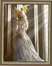 "Nene Thomas Fairy Faery Open Edition Print 8x10"" Asiria Goddess White Gold New"
