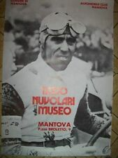 POSTER TAZIO NUVOLARI MUSEO MANTOVA AUTOMOBILE  ( M34-8)