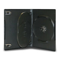 14mm Black Triple Multi 3 Discs DVD CD Cases with Tray Wholesale Lot
