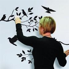 Wall Vinyl Sticker Bedroom Design Baby Kids Sparrow Birds Funny Z477