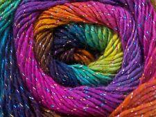 Primadonna Glitz Rainbow #49831 Ice 100gr Sparkly Wool Blend Fine Wt Yarn 317yds
