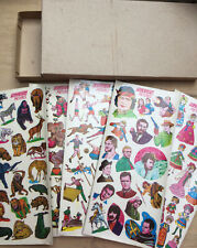 Made in Japan Box 150 sheets 1970s Transfers - Film Stars Circus Sport Dolls